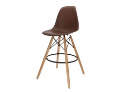 Image de la chaise design Silla de barra DSB - Marrón