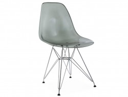 Image de la chaise design Silla DSR - Gris transparente