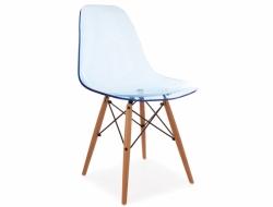 Image de la chaise design Silla DSW - Azul transparente