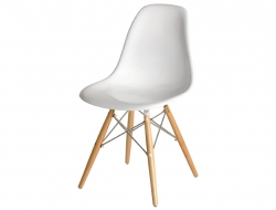 Image de la chaise design Silla DSW - Blanco brilliante