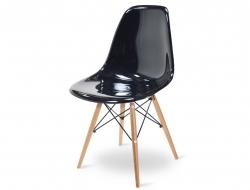 Image de la chaise design Silla DSW - Negro brillante