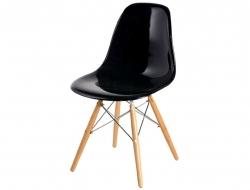 Image de la chaise design Silla DSW - Negro brilliante
