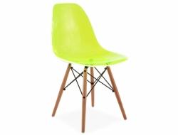 Image de la chaise design Silla DSW - Verde transparente