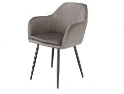 Image de la chaise design Silla Orville Brando - Terciopelo Gris