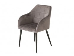 Image de la chaise design Silla Orville Luca - Terciopelo Gris