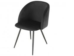Image de la chaise design Silla Orville Vesper  - Terciopelo Negro