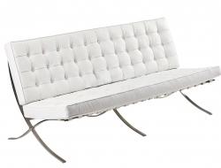 Image de la chaise design Sofá Barcelona 3 plazas - Blanco