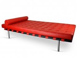 Image de la chaise design Sofá cama Barcelona 198 cm - Rojo
