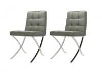 Image de la chaise design Barcelona Dining Chair - Gris (2 sillas)