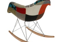 Image de la chaise design Eames Rocking Chair RAR - Patchwork