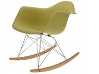 Image de la chaise design Eames Rocking Chair RAR -  Verde oliva