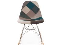 Image de la chaise design Eames rocking chair RSR - Patchwork azul