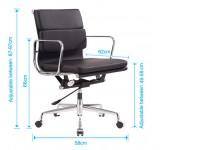 Image de la chaise design Eames Soft Pad EA217 - Verde limón
