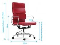 Image de la chaise design Eames Soft Pad EA219 - Blanco marfil