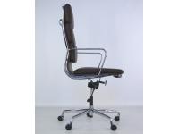 Image de la chaise design Eames Soft Pad EA219 - Marrón oscuro