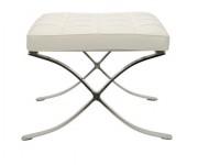 Image de la chaise design Ottoman Barcelona - Blanca