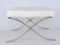 Image de la chaise design Ottoman Barcelona - Blanco