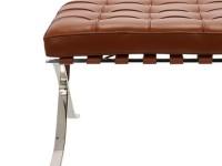 Image de la chaise design Ottoman Barcelona - Premium Cognac