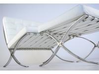 Image de la chaise design Silla Barcelona - Blanca
