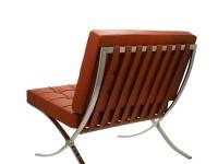 Image de la chaise design Silla Barcelona - Coñac