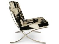 Image de la chaise design Silla Barcelona Pony - Negro & blanco