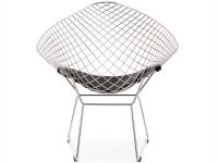 Image de la chaise design Silla Bertoia Wire Diamond - Negro