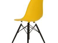 Image de la chaise design Silla Cosy Madera - Amarillo