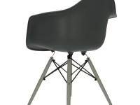 Image de la chaise design Silla Cosy Madera - Antracita