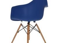 Image de la chaise design Silla Cosy Madera - Azul oscuro