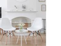 Image de la chaise design Silla Cosy Madera - Blanco