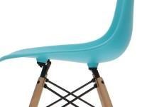 Image de la chaise design Silla Cosy Madera - Turquesa