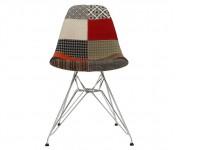 Image de la chaise design Silla Cosy Metal acolchada - Patchwork