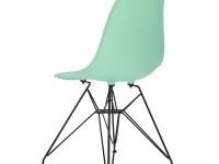 Image de la chaise design Silla Cosy Metal - Menta verde