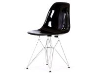 Image de la chaise design Silla Cosy Metal - Negro brillante