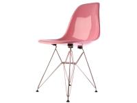 Image de la chaise design Silla Cosy Metal - Rosa brillante