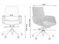 Image de la chaise design Silla de oficina Ergonómico 1901MB-129 - Negro
