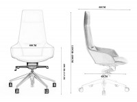 Image de la chaise design Silla de oficina Ergonómico YM-H-129 - Blanco