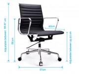 Image de la chaise design Silla Eames Alu EA117 - Gris