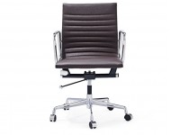 Image de la chaise design Silla Eames Alu EA117 - Marrón oscuro