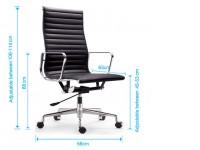 Image de la chaise design Silla Eames Alu EA119 - Gris