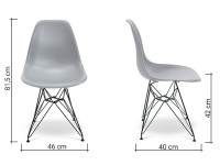 Image de la chaise design Silla Eames DSR - Gris