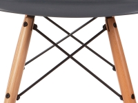 Image de la chaise design Silla Eames DSW - Antracita