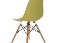 Image de la chaise design Silla Eames DSW - Verde oliva