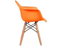 Image de la chaise design Silla Nino Eames DAW - Anaranjado