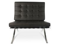 Image de la chaise design Silla y ottoman Barcelona - Gris oscuro