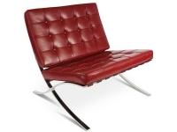 Image de la chaise design Silla y ottoman Barcelona - Rojo