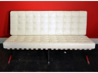 Image de la chaise design Sofá Barcelona 2 plazas - Blanco