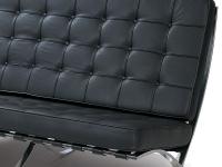 Image de la chaise design Sofá Barcelona 2 plazas - Negro