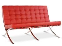 Image de la chaise design Sofá Barcelona 2 plazas - Rojo