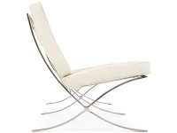 Image de la chaise design Sofá Barcelona 3 plazas - Crema